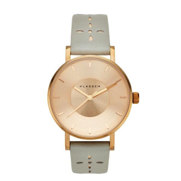 KLASSE14 クラス14 時計 メンズ レディース 腕時計 Volare 36mm ローズゴールド グレー 最高級レザー VO17IR031W ビジネス 男性 女性 ユニセックス ブランド 【仕事用】 誕生日 お祝い プレゼント ギフト お洒落