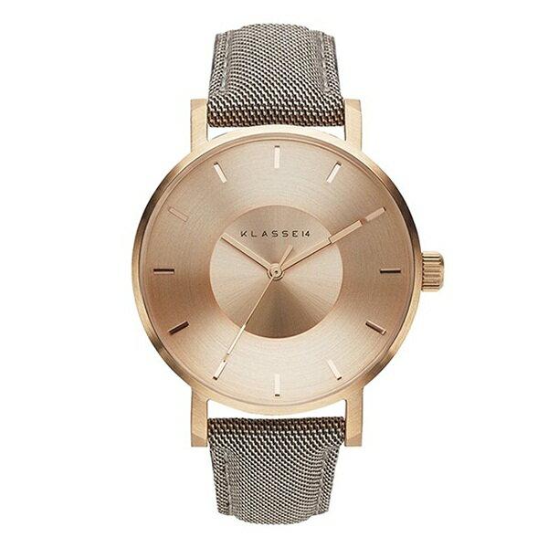 KLASSE14 クラス14 時計 メンズ レディース 腕時計 Volare 42mm ローズゴールド ブラウン レザー ウール VO17SA012M ビジネス 男性 女性 ユニセックス ブランド 【仕事用】 誕生日 お祝い プレゼント ギフト お洒落