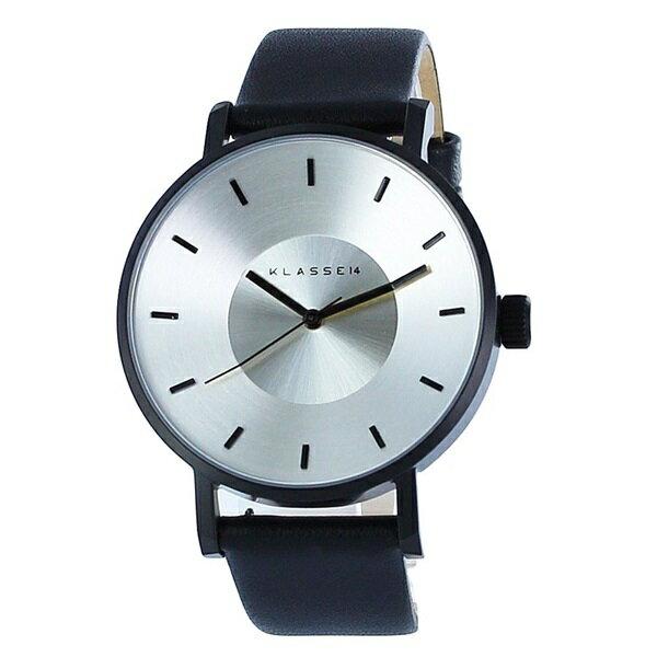 KLASSE14 クラス14 時計 メンズ レディース 腕時計 Volare シルバー ブラック最高級レザー 42mm VO14BK001M ビジネス 男性 ブランド 【仕事用】 誕生日 お祝い プレゼント ギフト お洒落