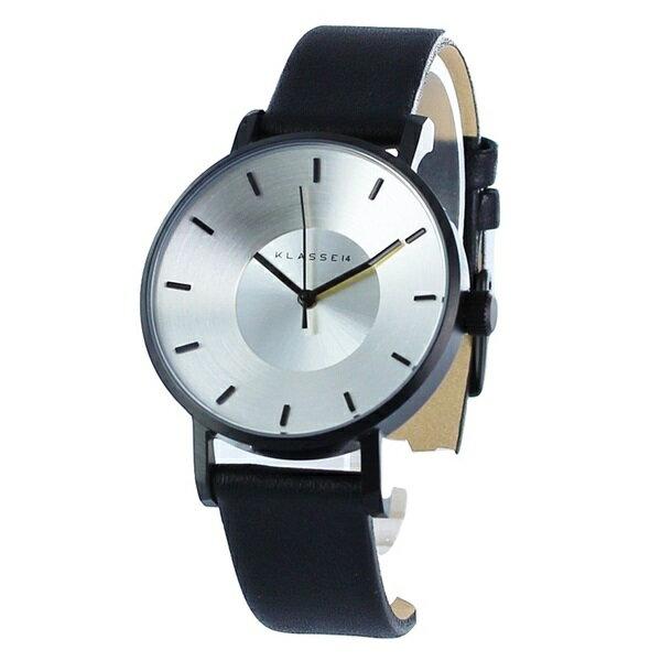 KLASSE14 クラス14 時計 メンズ レディース 腕時計 Volare シルバー ブラック最高級レザー 36mm VO14BK001W ビジネス 男性 ブランド 【仕事用】 誕生日 お祝い プレゼント ギフト お洒落