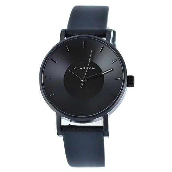 無料特典付き! KLASSE14 クラス14 時計 メンズ レディース 腕時計 Volare ヴォラーレ ALLブラック 最高級レザー 36mm VO14BK002W ビジネス 男性 ブランド 【仕事用】 誕生日 お祝い プレゼント ギフト お洒落