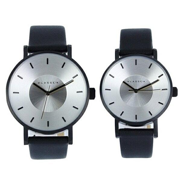 KLASSE14 クラス14 時計 メンズ レディース 腕時計 Volare シルバー ブラック最高級レザー VO14BK001MVO14BK001W ブランド カップル 男女 ペアセット【仕事用】 誕生日 お祝い プレゼント ギフト お洒落