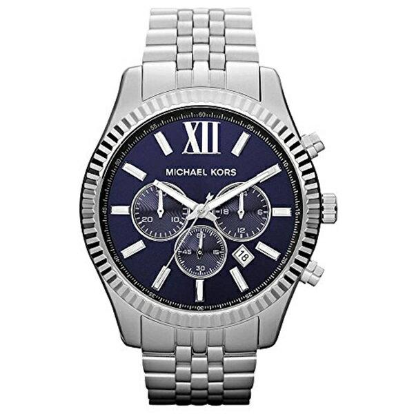 マイケルコース 時計 メンズ 腕時計 レキシントン ネイビー クロノグラフ スクリューバック MK8280 ビジネス 男性 ブランド 時計 誕生日 お祝い クリスマスプレゼント ギフト お洒落