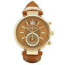 マイケルコース 時計 レディース 腕時計 ソーヤー クロノグラフ ブラウン クロコ レザー ゴールド クリスタル MK2424 …