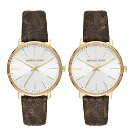 【ペアBOX付き】マイケルコース 腕時計 ペアウォッチ メンズ レディース 同じサイズ おそろい PYPER MK2857MK2857 カップル 男女 ペアセット 誕生日 お祝い プレゼント ギフト ブラックフライデー