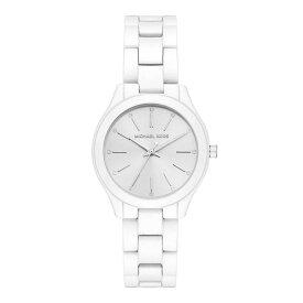 【アウトレット品の為、お値引き 値下げ】マイケルコース 時計 レディース 女性用 腕時計 Slim Runway スリムランウェイ ホワイト ステンレス MK3908 誕生日 お祝い ギフト