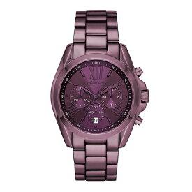 【キャッシュレス5%還元】マイケルコース 時計 メンズ レディース ユニセックス 男女兼用 腕時計 Bradshaw ブラッドショー クロノグラフ 43ミリ パープル ステンレス MK6721 ビジネス 男女 ブランド 誕生日 お祝い プレゼント ギフト