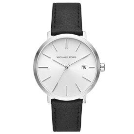 マイケルコース 時計 メンズ 腕時計 BLAKE ブレイク シルバー×ブラック レザー 革ベルト MK8674 ビジネス 男性 誕生日 お祝い ギフト