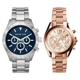MICHAEL KORS マイケルコース 腕時計 ペアウォッチ クロノ メンズ レディース 時計 シルバー ピンクゴールド ペアグッツ ペアアクセ MK8781MK5799 カップル 男女 ペアセット 誕生日 お祝い プレゼント ギフト ブラックフライデー