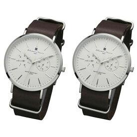 国内正規品 ペア腕時計 ボックス付き サルバトーレマーラ 時計 ペアウォッチ ダークブラウン SM15117-SSWHSV ビジネス 男女 ペアセット 誕生日 お祝い プレゼント ギフト