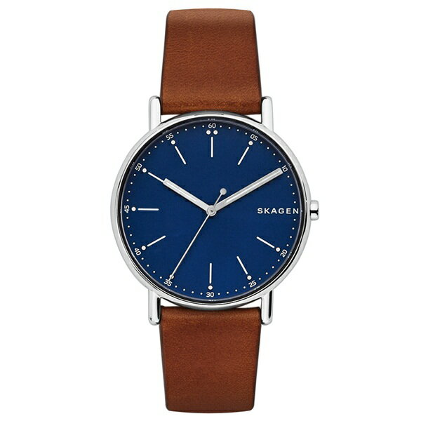 新作 スカーゲン 時計 メンズ 腕時計 シグネチャー ブラウン レザー SKW6355 ビジネス 男性 ブランド 時計 【仕事用】 誕生日 お祝い クリスマスプレゼント ギフト お洒落