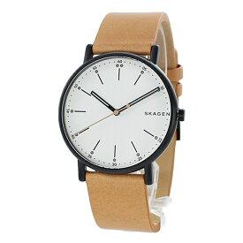 新作 スカーゲン 時計 メンズ 腕時計 シグネチャー ライトブラウン レザー SKW6352 ビジネス 男性 時計 誕生日 お祝い ギフト