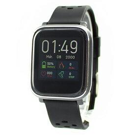 国内正規品 SMART R スマートR スマートウォッチ 時計 メンズ レディース ユニセックス デジタル 腕時計 iPhone/android対応 使いやすい 初心者向け 心拍 歩数 Line通知 F-18 BK+BK ビジネス 男性 女性 ブランド 誕生日 お祝い プレゼント ギフト