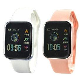 国内正規品 SMART R スマートR スマートウォッチ 時計 ペアウォッチ カラーデジタル 腕時計 iPhone対応 android対応 使いやすい 初心者向け 心拍 歩数 Line通知 NY07 WHNY07 PK ビジネス 男性 女性 ブランド 誕生日 お祝い プレゼント ギフト