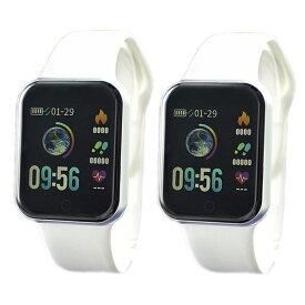 国内正規品 SMART R スマートR スマートウォッチ 時計 ペアウォッチ カラーデジタル 腕時計 iPhone対応 android対応 使いやすい 初心者向け 心拍 歩数 Line通知 NY07 WHNY07 WH ビジネス 男性 女性 ブランド 誕生日 お祝い プレゼント ギフト