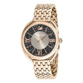 SWAROVSKI スワロフスキー 時計 レディース スイスメイド 腕時計 CRYSTALLINE GLAM クリスタルライングラム 35ミリ ブラック シャンパンゴールド ステンレス 5452462 誕生日 お祝い ギフト