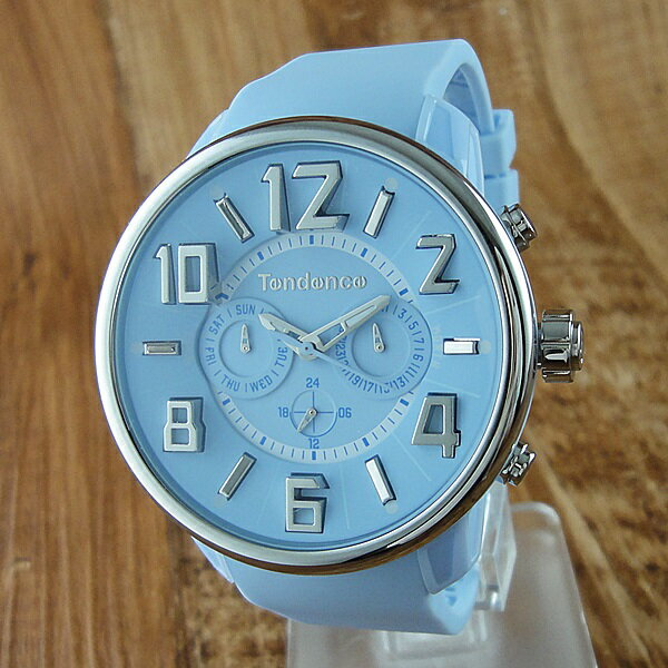テンデンス 時計 メンズ レディース ユニセックス 腕時計 ガリバー デイデイト ライトブルー TG765002 男女 ブランド 時計 誕生日 お祝い クリスマスプレゼント ギフト お洒落