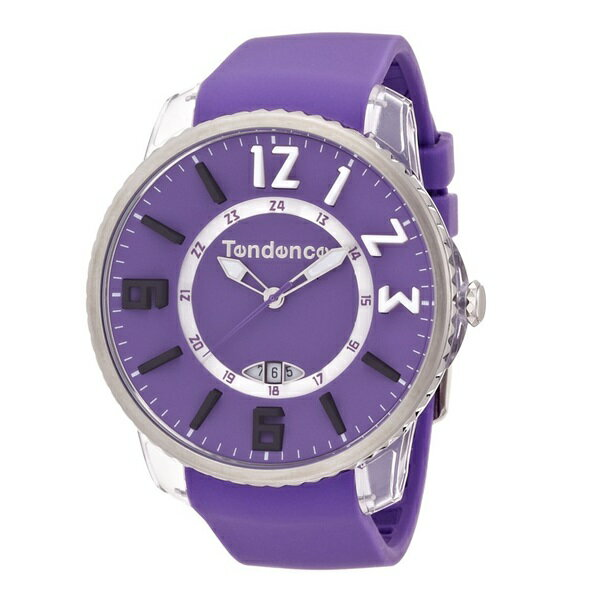 テンデンス 時計 メンズ レディース ユニセックス 腕時計 スリム ポップ デイカレンダー パープル TG131002 男性 ブランド 時計 誕生日 お祝い クリスマスプレゼント ギフト お洒落