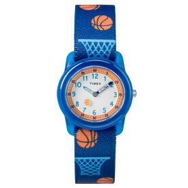 国内正規品 タイメックス 腕時計 キッズウォッチ 男の子 タイムティーチャーブルー バスケットボール 伸びるベルト TW7C16800 子供用 誕生日 お祝い ギフト