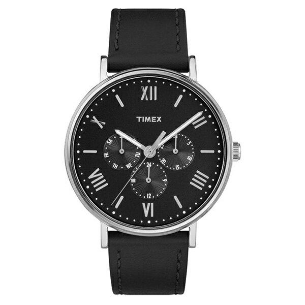 無料特典付き 国内正規品 タイメックス 時計 メンズ レディース ユニセックス 腕時計 サウスビュー マルチファクション シルバーケース ブラック レザー TW2R29000 ビジネス 男性 女性 ブランド 誕生日 お祝い プレゼント ギフト お洒落
