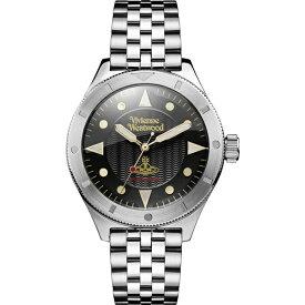 ヴィヴィアン ウエストウッド 時計 メンズ 腕時計 ブラック文字盤 シルバー ステンレス VV160BKSL ビジネス 男性 ブランド 誕生日 お祝い プレゼント ギフト お洒落