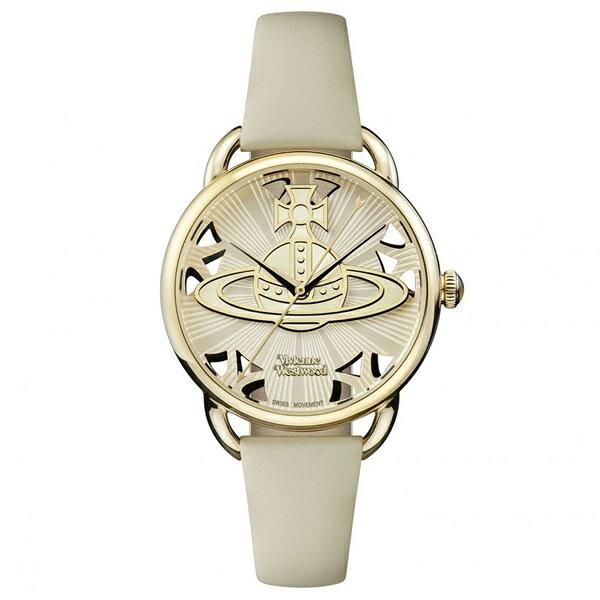 新作 ヴィヴィアン ウエストウッド 時計 レディース 腕時計 ゴールド グレー レザー VV163CMCM ビジネス 女性 ブランド 時計 誕生日 お祝い プレゼント ギフト お洒落