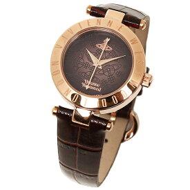 【無料特典付き!】ヴィヴィアン ウエストウッド 時計 レディース 腕時計 タイムマシン ローズゴールド ダークブラウン クロコ レザー VV092BRBR ビジネス 女性 ブランド 時計 誕生日 お祝い プレゼント ギフト お洒落