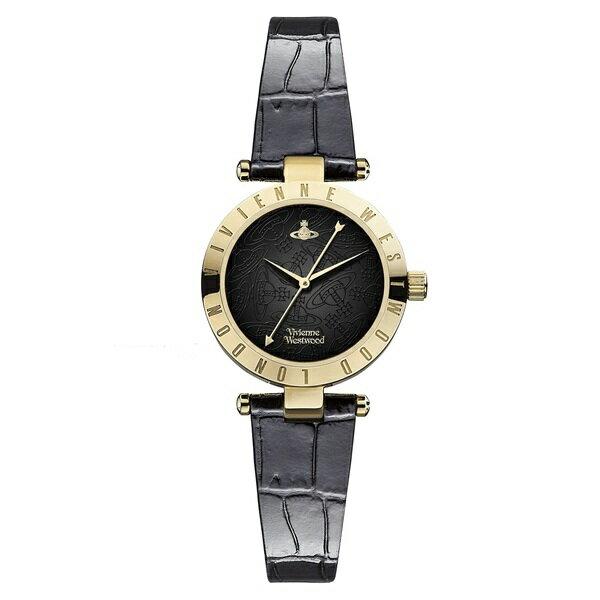 ヴィヴィアン ウエストウッド 時計 レディース 腕時計 タイムマシン ゴールド ブラック クロコ レザー VV092BKBK ビジネス 女性 ブランド 時計 誕生日 お祝い クリスマスプレゼント ギフト お洒落