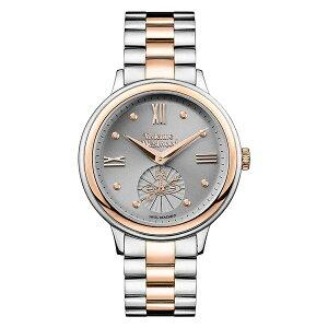 ヴィヴィアン ウエストウッド 時計 レディース 腕時計 スモールセコンド グレー文字盤 シルバー ローズゴールド ステンレス VV158GYTT ビジネス 女性 ブランド 時計 誕生日 お祝い クリスマスプレゼント ギフト お洒落