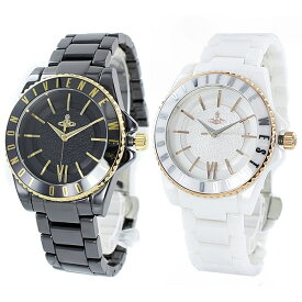 ヴィヴィアン ウエストウッド 時計 ペアウォッチ タイムマシン ブラック ホワイト セラミック VV048GDBKVV048RSWH ペアセット カップル 誕生日 お祝い ギフト