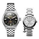 【ペアボックス付き】ヴィヴィアン ウエストウッド 腕時計 ペアウォッチ メンズ レディース 2本組 シルバー とけい ギ…