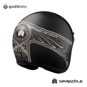 GARGOYLE ガーゴイル ジェットヘルメット Amulet02 SILVER CROW シルバークロウ M L XL godblinc ゴッドブリンク