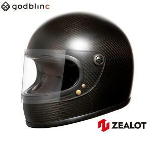 ZEALOT ジーロット ヘルメット フルフェイス NV ロードレーサー CARBON HYBRID STD MATT-BLACK カーボン M L godblinc ゴッドブリンク