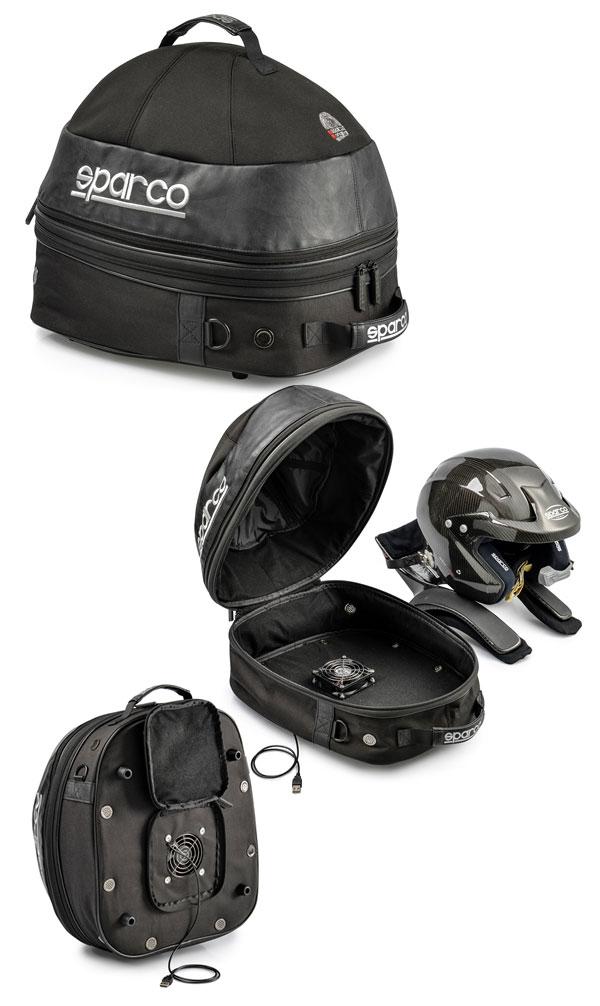 【コスモス COSMOS】 ヘルメット&ハンスバッグ SPARCO スパルコ バッグ  送風ファン付き BAG