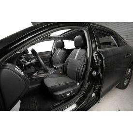 フロント シートカバー 運転席 助手席 車 シート保護 ヘッドレスト保護 サイドエアバッグ対応 内装 素材 パーツ ブラック