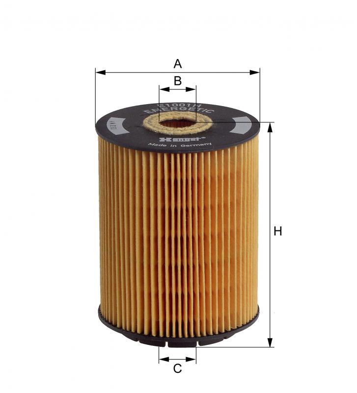 B140 オイルフィルター ポルシェカイエン(型式:9PAM5501他)E1001HD28(純正品番:021115562A)