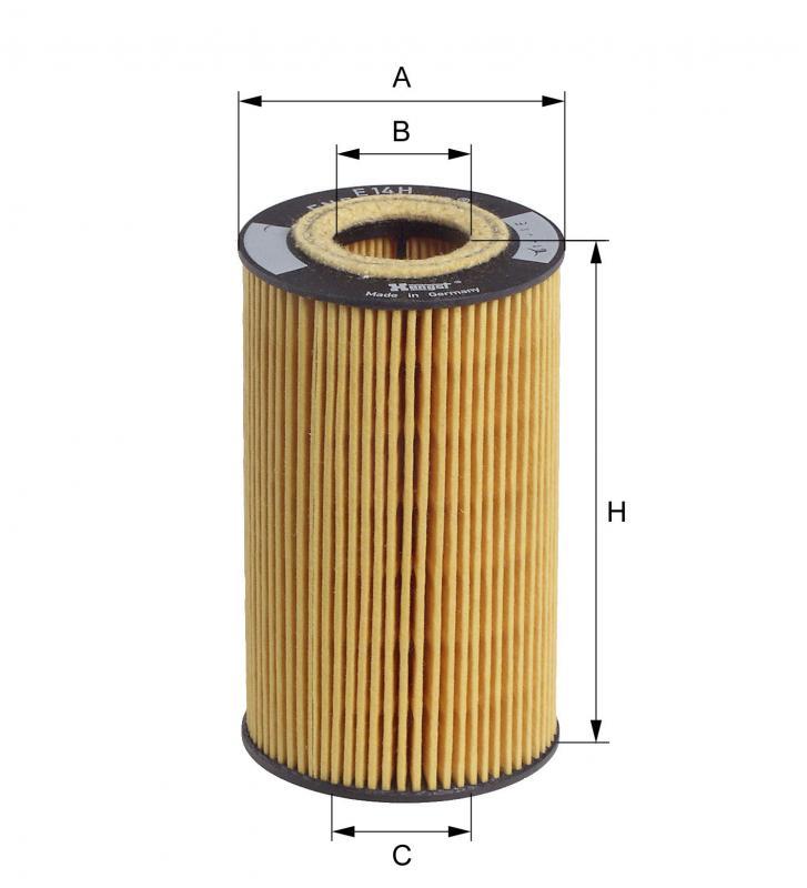 B136 オイルフィルター ポルシェカイエン(型式:9PA00他)E14HD77(純正品番:99610702054)