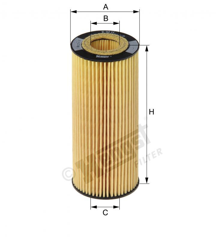 B137 オイルフィルター E32HD184(純正品番:06E115562A)ポルシェカイエン92A 他