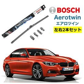 BOSCH ワイパー BMW 3 シリーズ [F34] [F31][F30][E91]E90]320i 運転席 助手席 左右 2本 セット AP24U AP19U型式:DBA-3B20他 ボッシュ エアロツイン ワイパー| フラットワイパー 適合 ワイパーブレード 替え ウインドウケア ビビリ音 低減 ポリマー コーティング ゴム
