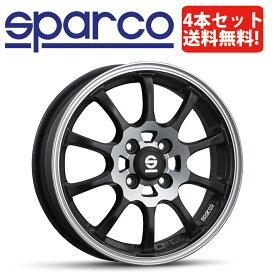 SPARCO DRIFT(スパルコ ドリフト)15インチ×4.5J 4H-100 +43 マットブラックポリッシュ 4本セット【軽自動車用】