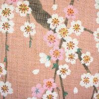 のれんロング和風桜春麻風グラデーションしだれ桜150cm丈
