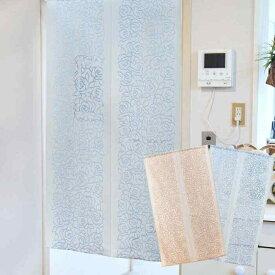 のれん 暖簾 綿 薔薇 綿混バラ 150cm丈 全2色