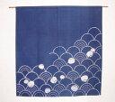【のれん(暖簾)】すっきりした波のれん 紺90cm丈 ナチュラル 【国産 和風 のれん 暖簾 贈り物 日本製 アジアン お祝い…