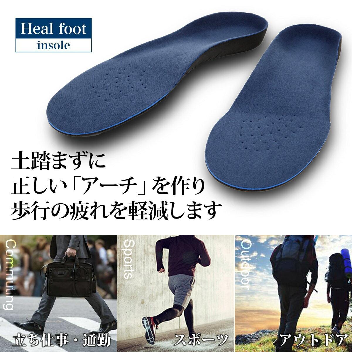 インソール 人体工学に基づいた 3D アーチサポート インソール <適度な弾力> 疲れにくい 中敷き 疲れない 疲れにくい 靴 靴中敷き 土踏まず かかと レディース メンズ 偏平足 ハイアーチ つちふまず なかじき 送料無料