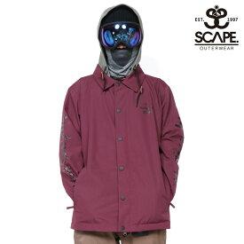 45%OFF SCAPE エスケープ ウェア コーチジャケット メンズ COACH JACKET スノーボードウェア スノボ 711-183 セール SALE