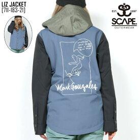セール SALE エスケープ SCAPE リズ ジャケット LIZ JACKET ウェア スノボ 711-183-21 レディース