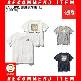 ノースフェイス キッズ Tシャツ S/S SQUARE LOGO GRAPHIC TEE 半袖 NTJ81930