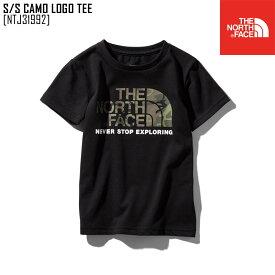 ノースフェイス NTJ31992 キッズ Tシャツ 半袖 アウトドアブランド S/S CAMO LOGO TEE