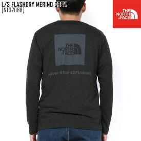 セール ノースフェイス NT32088 メンズ Tシャツ 長袖 ロンT アウトドアブランド L/S FLASHDRY MERINO CREW