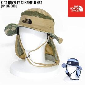 ノースフェイス NNJ02008 キッズ ハット 帽子 男の子 女の子 アウトドアブランド KIDS NOVELTY SUNSHIELD HAT